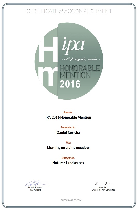 IPA_2016_Honorable-Mention_Morning on alpine meadow