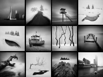 Černobílé minimalistické fotografie z různých koutů Evropy