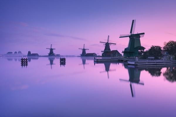 Skanzen Zaanse Schans je jedním z míst, které budeme společně fotografovat během foto workshopu Rozkvetlé jarní Holandsko