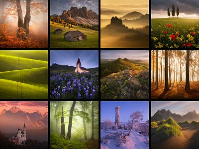 Barevné krajinářské fotogrfie z různých koutů Evropy
