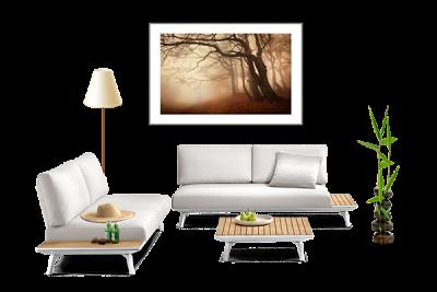 Originální fotoobraz jako dekorace moderního interiéru