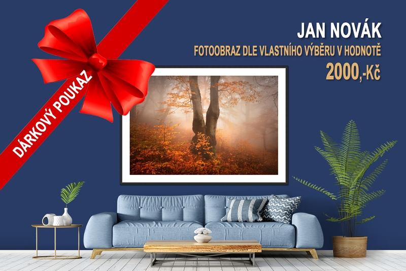 Dárkové poukazy na fotokurzy a fotoobrazy - fotografický obraz z Krušných hor jako originální dárek k vánocům