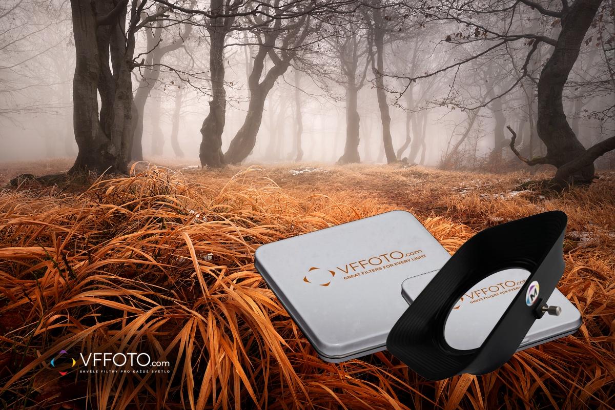Fotografie bukového lesa v podzimních Krušných horách z článku jak vyzrát nad vinětací magnetických filtrů VFFOTO