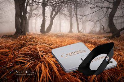 Fotografie mlhavého lesa se zajímavě pokroucenými buky v podzimních Krušných horách z článku jak vyzrát nad vinětací magnetických filtrů VFFOTO